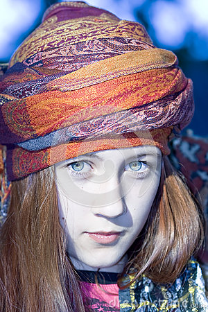 Nice young girl in a turban