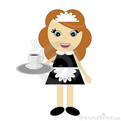 Nice young girl waiter