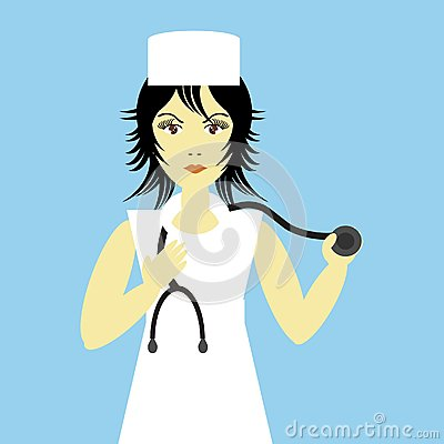 Nice young nurse