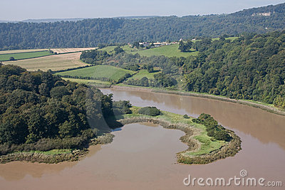 Nicely shaped peninsula on the river Wye