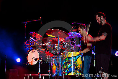 Nick Hexum and P-Nut of 311 in Concert Editorial Stock Image