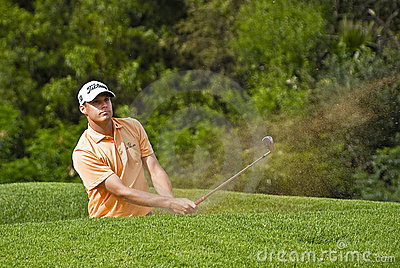 Nick Watney - Bunker Shot Editorial Stock Photo