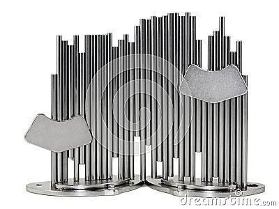 Nickelized棍子和超级磁铁