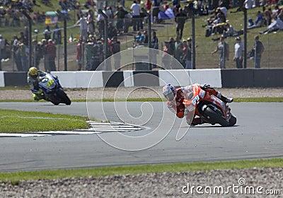 Nicky Hayden Valentino Rossi Donington MotoGP 2009 Editorial Stock Image