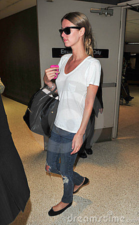 Nicky Hilton at LAX airport Editorial Photography
