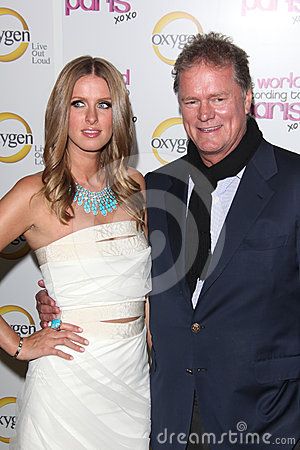 Nicky Hilton, Rick Hilton Immagine Stock Editoriale