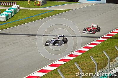 Nico Rosberg and Massa at the Malaysian formula 1 Editorial Photo