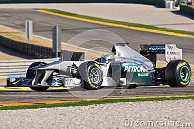 Nico Rosberg (Mercedes GP) Editorial Photo