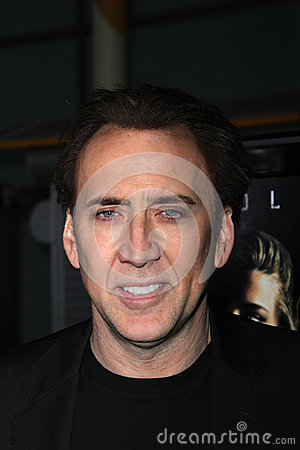 Nicolas Cage Redactionele Stock Foto