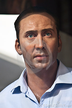 Nicolas Cage - wax statue Editorial Photography