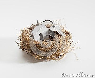 nid confortable pour le nouveau propri taire de logement photos stock image 36007063. Black Bedroom Furniture Sets. Home Design Ideas