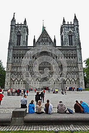 Nidaros Cathedral Trondheim Editorial Stock Image
