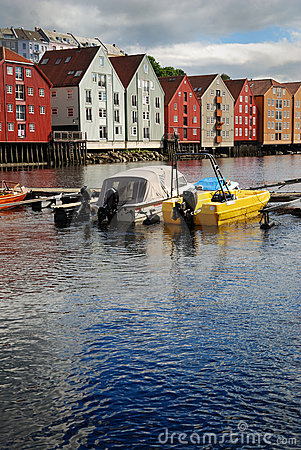 The Nidelva river in Trondheim.