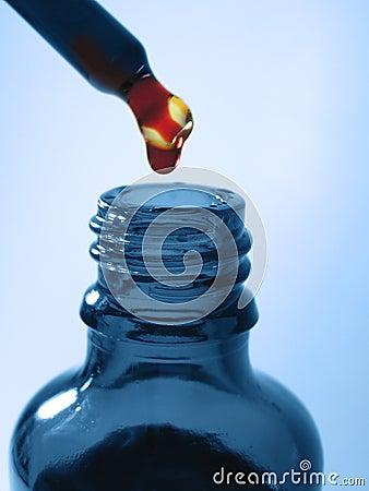 Niebieska butelki medycyny