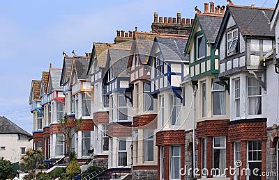 Niebieski domów stare niebo taras