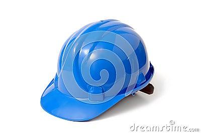 Niebieski kasku bezpieczeństwa