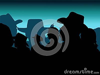 Niebieski kowboja na przyjęcie