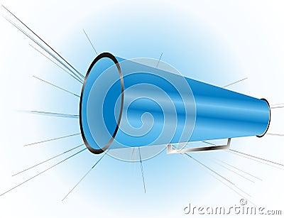 Niebieski megafon