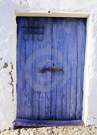 Niebieskie drzwi stary