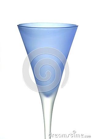 Niebieskie szkło wina