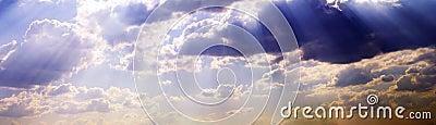 Niebo, chmury szerokie