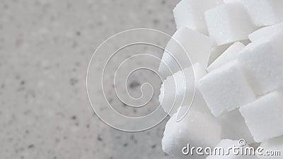 Niecka przez cukrowych sześciany zbiory