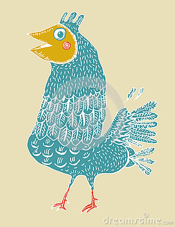 Niedorzeczna ptaszyna (wektor)