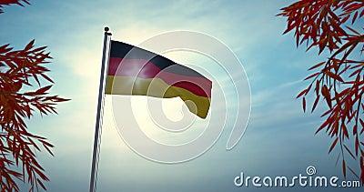 Niemieckie Lotnictwo Bandery Lub Banner Reprezentuje Federalną Republikę Niemiec - Wideo 4 Kb/S zbiory