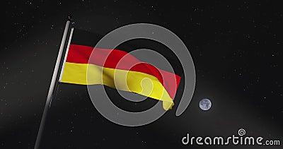 Niemieckie Lotnictwo Bandery Lub Bannera Reprezentuje Federalną Republikę Niemiec - Wideo O Wolnym Ruchu 4 Kb/S zdjęcie wideo