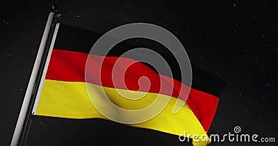 Niemieckie Lotnictwo Bandery Lub Bannera Reprezentuje Federalną Republikę Niemiec - Wideo O Wolnym Ruchu 4 Kb/S zbiory wideo