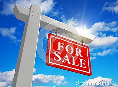 Nieruchomości istny sprzedaży znak