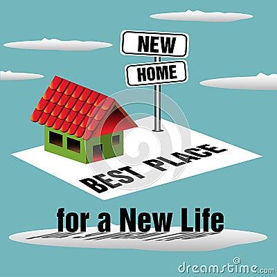 Nieuw huis vector illustratie afbeelding 47814217 - Nieuw huis ...