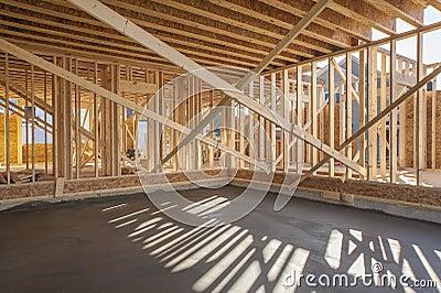 Nieuw huis binnenlands frame