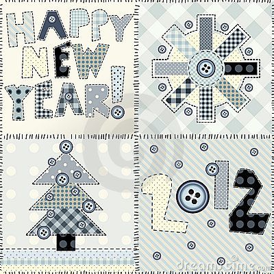 Nieuw jaar het watteren ontwerp