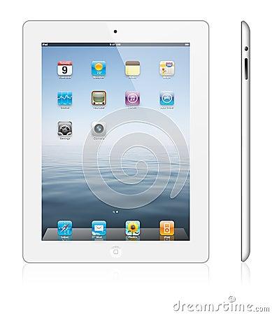 Nieuwe witte versie 3 van de Appel iPad Redactionele Afbeelding
