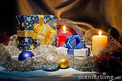 Nieuwjaar, het stilleven van Kerstmis