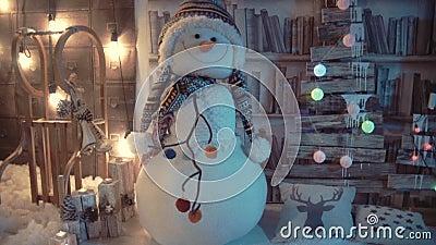Nieve de Navidad almacen de metraje de vídeo