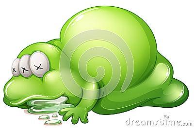 Nieżywy greenslime potwór
