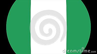 Nigeria flaggaövergång 4K royaltyfri illustrationer