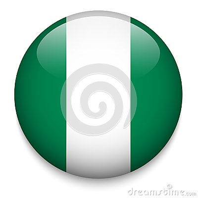 Free NIGERIAN Flag Button Royalty Free Stock Photography - 118949087