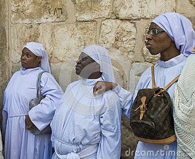 Nigerian pilgrims Editorial Stock Photo