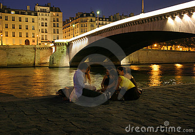 Night Along the Seine