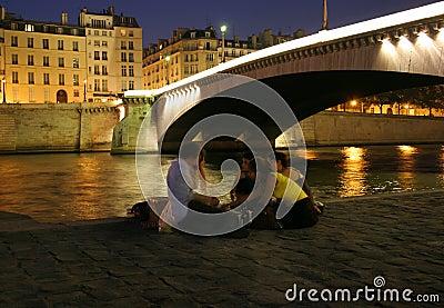Night Along the Seine
