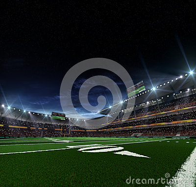 Free Night American Football Arena Stock Image - 44643571