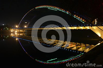 Night arc bridge