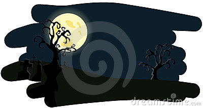 Night background on Helloween
