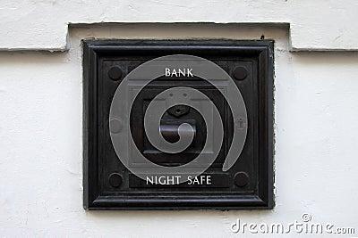 Night bank deposit safe