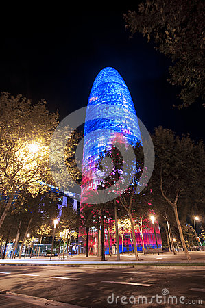 Night Barcelona Agbar Tower