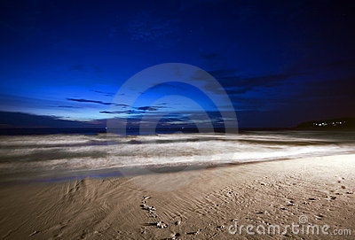 Night on the beach
