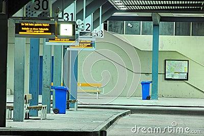 Night bus terminal